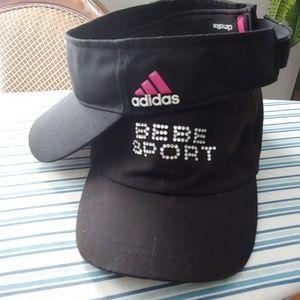 Adidas visor and Bebe Sport ball cap